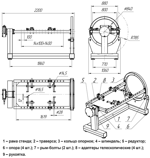 Для разборки и сборки двигателей кпп