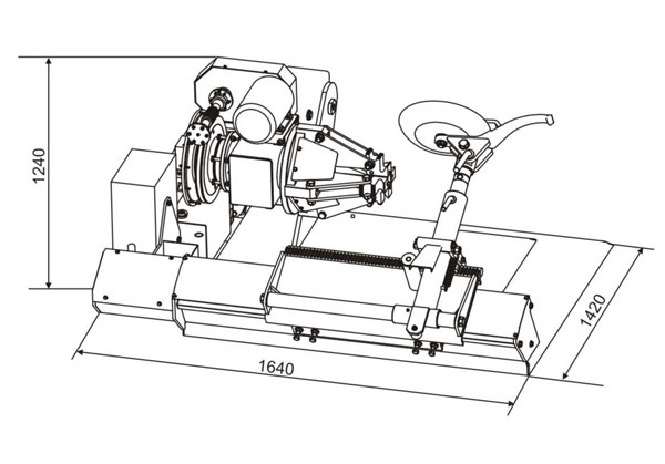 Схема шиномонтажного стенда Ш515Е