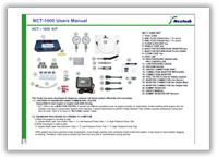 Инструкция по эксплуатации (руководство пользователя) Nextech NCT-1000 на английском