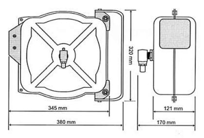 Схема катушки для раздачи воздуха APAC 1731.C3