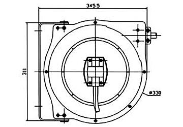 Схема катушки для раздачи воздуха/воды APAC 1731.С4