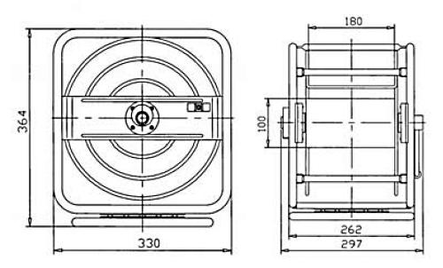 Схема катушки для раздачи воздуха APAC 1731.CGS