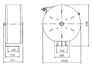 Схема катушки для раздачи масел APAC 1731.ОА