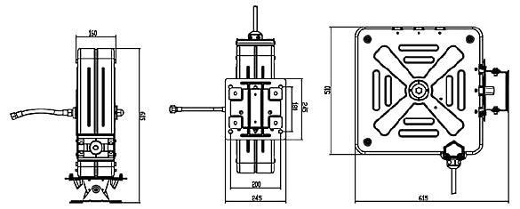 Схема катушки для раздачи масел APAC 1731.QB