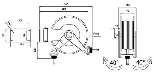 Схема катушки для раздачи воздуха APAC 1732.430