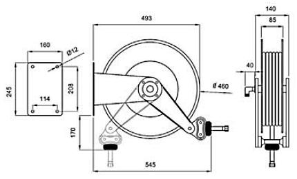 Схема катушки для раздачи воздуха APAC 1732.56B