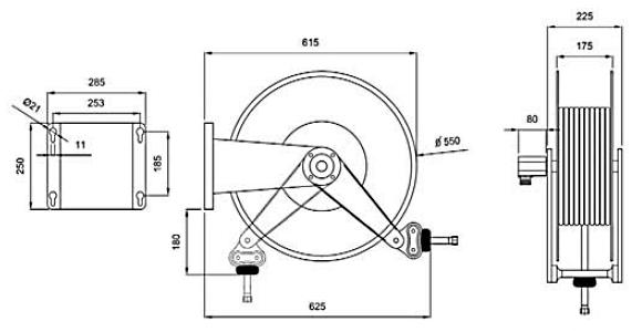 Схема катушки для раздачи воздуха APAC 1732.678