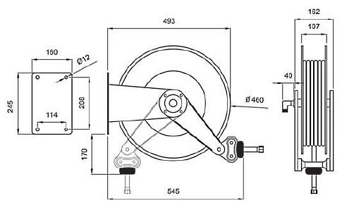 Схема катушки для раздачи воздуха APAC 1732.896