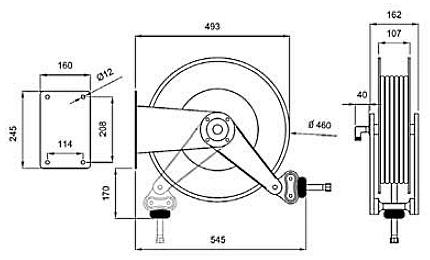 Схема катушки для раздачи воздуха APAC 1732.915