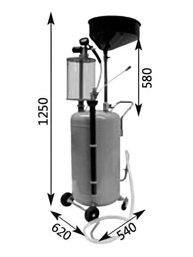 Схема устройства для слива масла APAC 1803.80