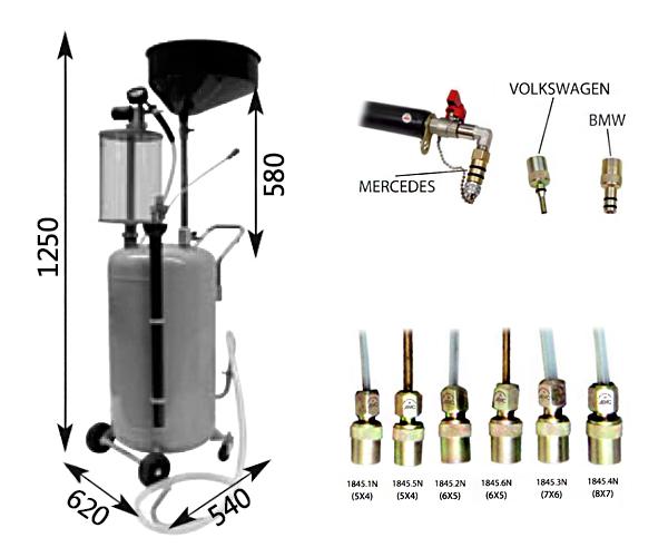 Схема устройства для слива масла APAC 1832.80