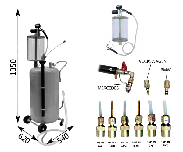 Схема устройства для слива масла APAC 1837.80