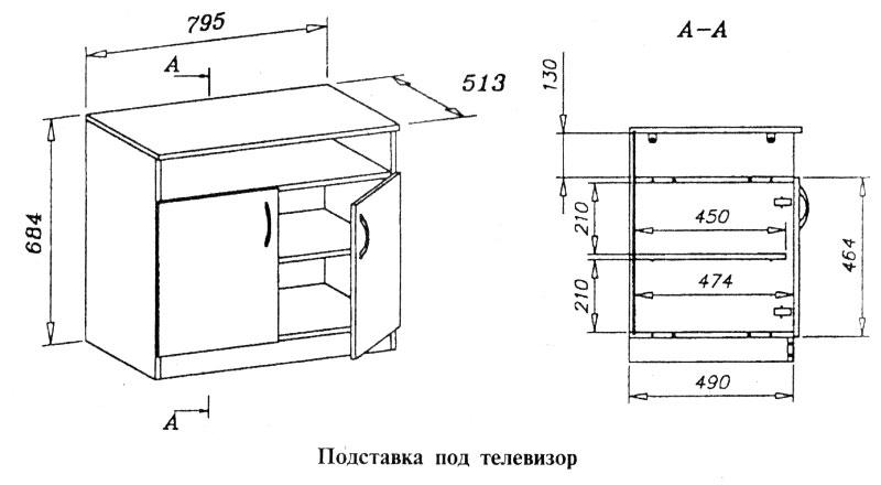 Изготовление тумбы под телевизор своими руками