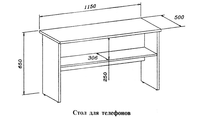 Стол для телефонов