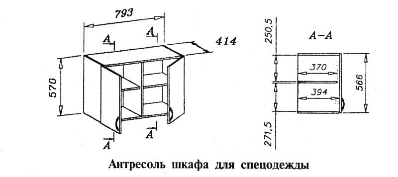 Антресоль шкафа для спецодежды