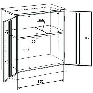 Архивный шкаф ШАМ-05/400