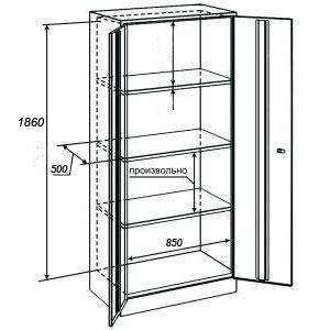 Архивный шкаф ШАМ-11