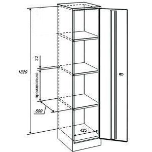 Архивный шкаф ШАМ-12/1320