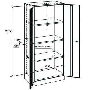 Архивный шкаф ШАМ-11-20