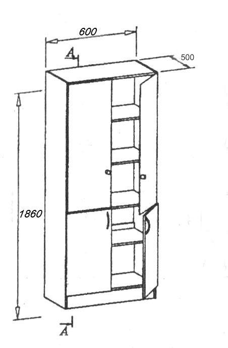Архивный шкаф ШРМ-24.0