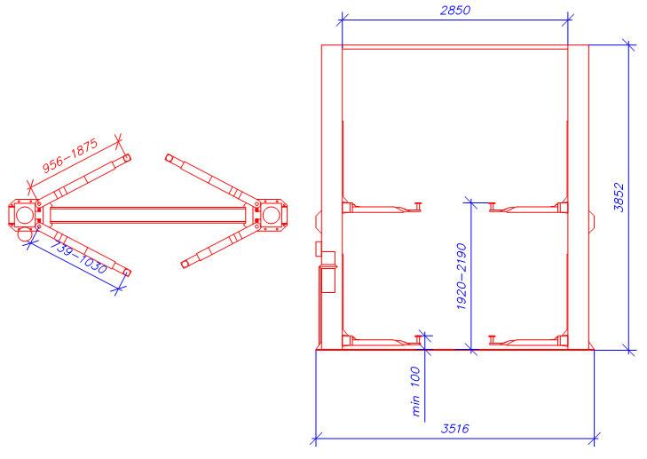Схема двухстоечного