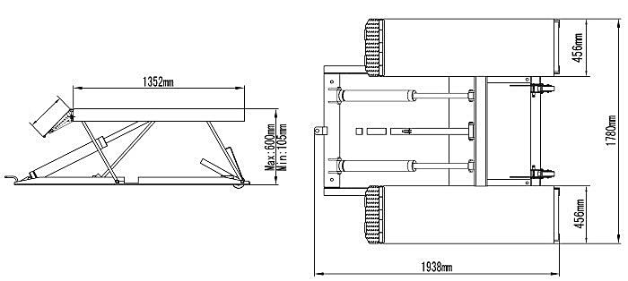Схема ножничного подъемника