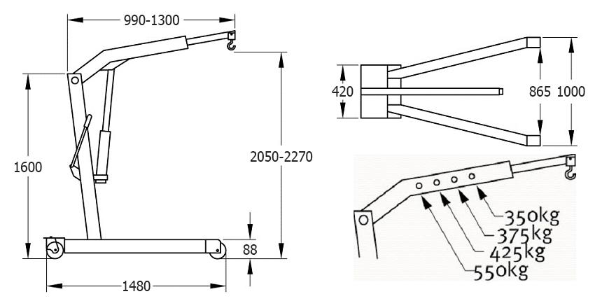 Схема гидравлического крана Compac CC055