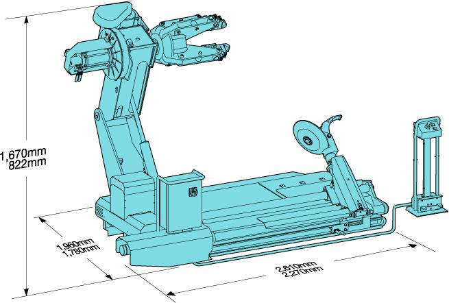 Схема (чертеж) шиномонтажного станка Heshbon HT-56H
