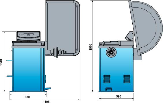Схема балансировочного станка Heshbon HW-113
