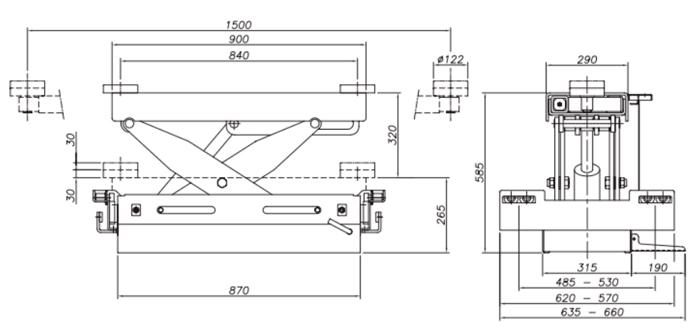 Схема гидравлической траверсы Werther 406P.5 (OMA 544A.05)