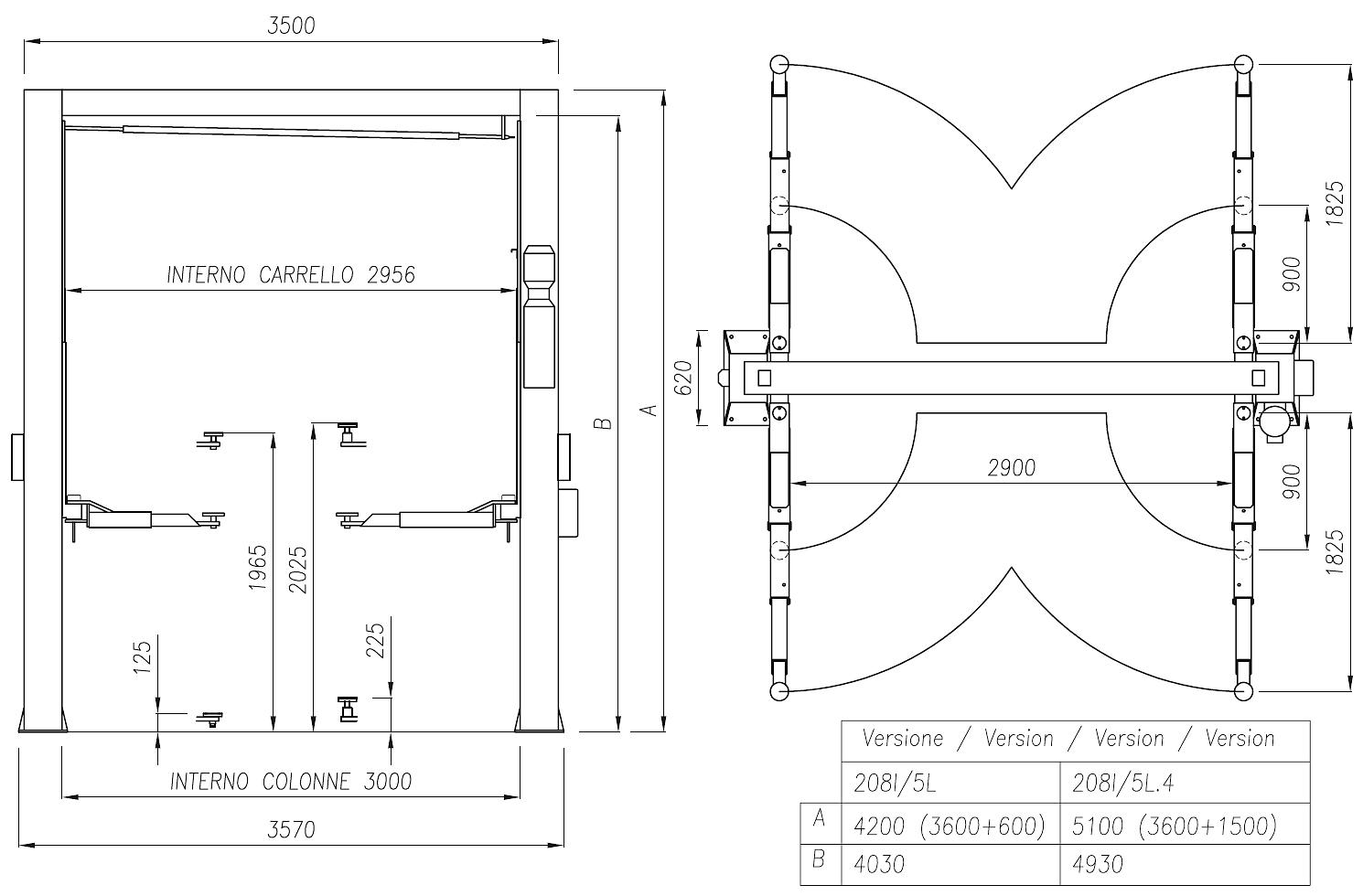двухстоечный гидравлический подъемник - 4 ремонт схема
