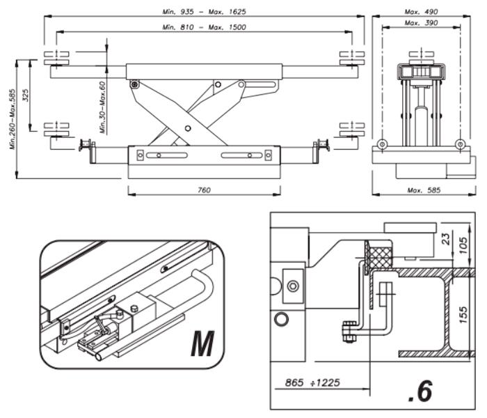 Схема гидравлической траверсы Werther 404M.6 (OMA 543.06)