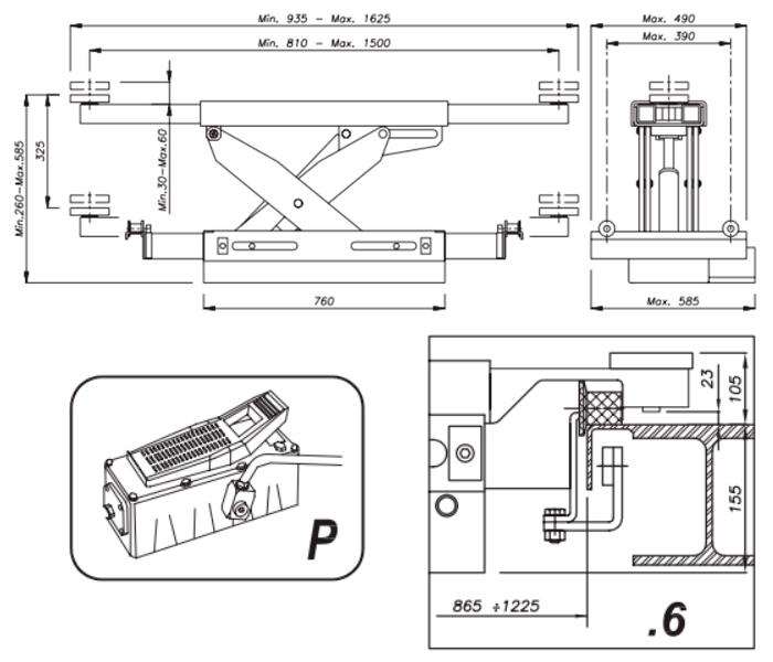 Схема гидравлической траверсы Werther 404P.6 (OMA 543A.06)