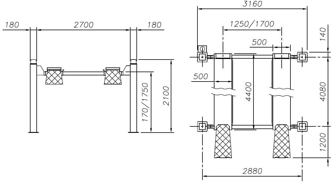 Схема четырехстоечного подъемника Werther 437 (OMA 523)