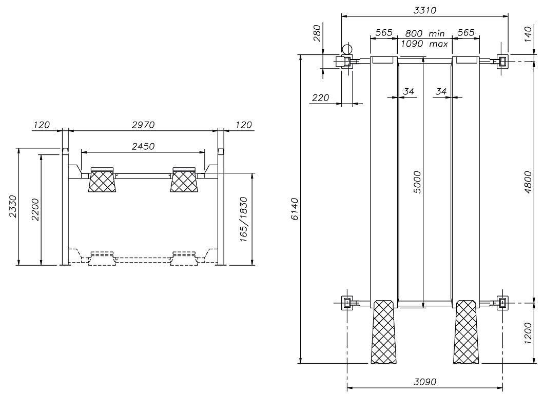 Схема четырехстоечного подъемника Werther 442LP (OMA 527R)