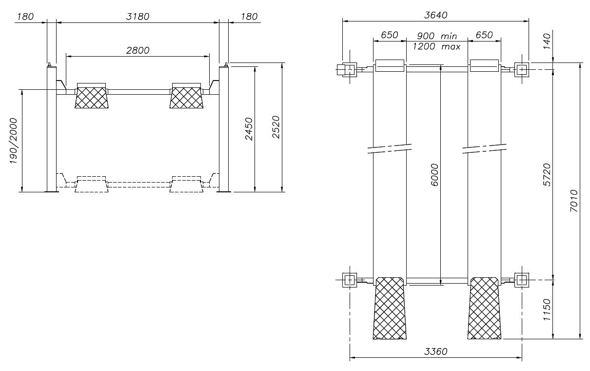 Схема четырехстоечного подъемника Werther 460 (OMA 528)
