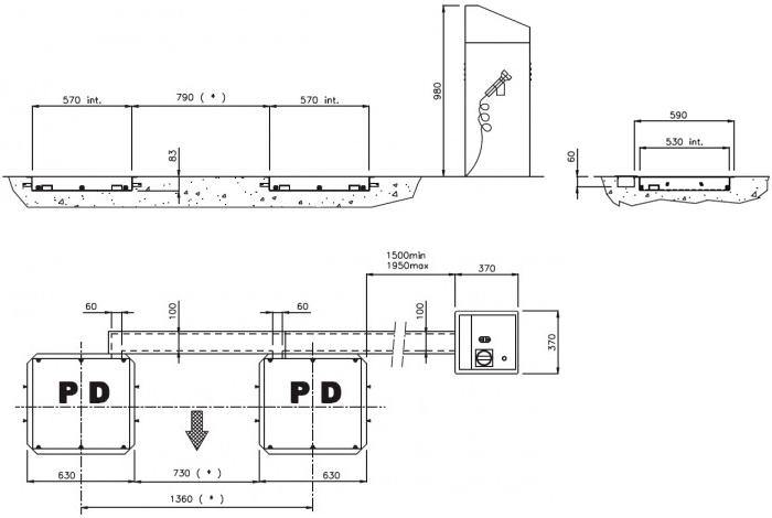 Схема люфт-детектора Werther (OMA) PG4M RIB/P/T