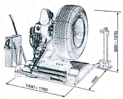 Схема (чертеж) шиномонтажного станка  Werther Titanium 1000 (OMA 673T)