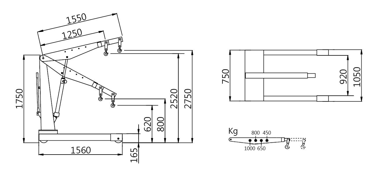 Схема гидравлического крана Werther W141 (OMA 574)