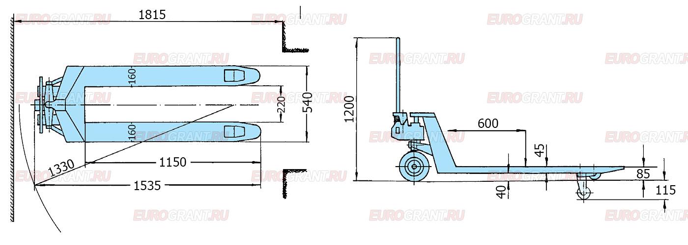 Схема гидравлической тележки PFAFF MOTION HU 26-115 TMt